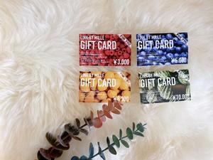 8000円分 LINK GIFT CARD(実店舗でのご利用のみ)