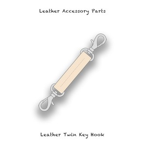 Leather Accessory Parts / Leather Twin Key Hook ( Natural )