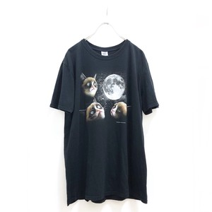 Moon Cat T Shirt / 月とネコTシャツ