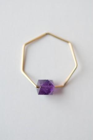 siki 七角形とアメジストのリング