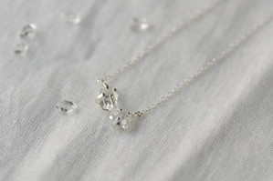 ハーキマーダイヤモンドネックレス