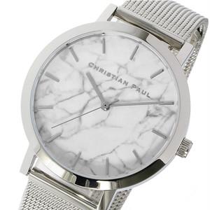 クリスチャンポール CHRISTIAN PAUL マーブル HAYMAN レディース 腕時計 MRML-03 (MWS3520) シルバー ホワイト ホワイト