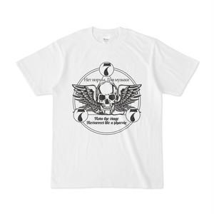ロックTシャツ(777ロゴ:白・前面)