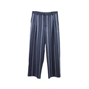 TTT MSW STRIPE WIDE TROUSER BLACK