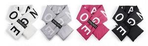 Acocぺディンショートクロスマフラー(White,Black,Pink,Grey) 3690