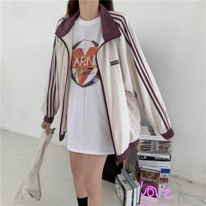 【アウター】韓国系ファッション切り替えジッパースタンドネックコート22807113