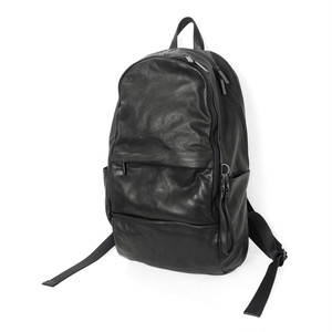 172ABG04 Leather-washed backpack 'round double F' バックパック/リュ