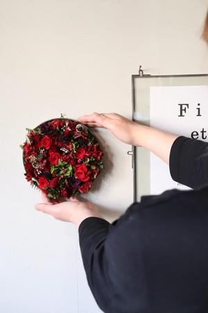 Preserved flower plate arrange L-[KOKIHI]送料込