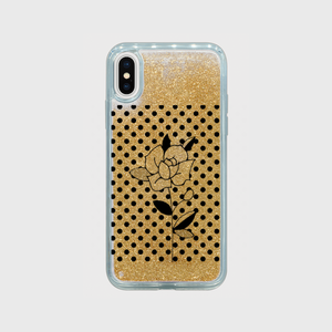 Glitter iPhone case simple rose (gold / dot ver.)