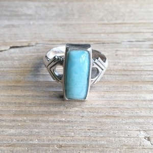 Larimar rectangle ring