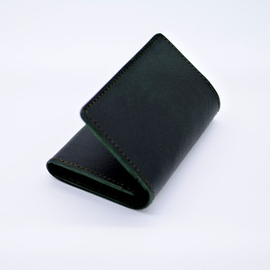 Yezo deer card case 墨染series green