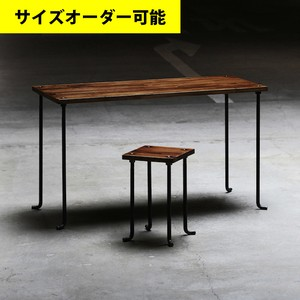 IRON BAR DESK & STOOL SET[BROWN COLOR]サイズオーダー可