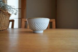 砥部焼/お茶碗/鎬ヘリンボーン/皐月窯