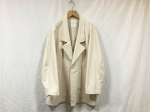 """WHOWHAT""""BUFF CLOTH WIDE JACKET NATURAL"""""""