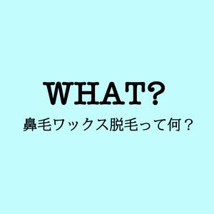 【無料】WHAT's 鼻毛ワックス?