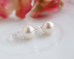 あこや真珠のピアスのようなイヤリング・7.5~8ミリ(ノンホールピアス)