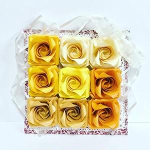 sun flower バラ折りアレンジ(置き飾り)