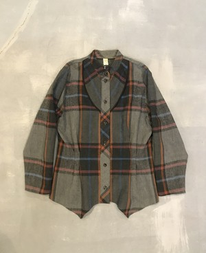 Multiple Color Check Tucked Shirts [H-218]