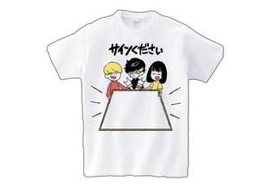 サインくださいTシャツ【あさくらちさとデザイン】