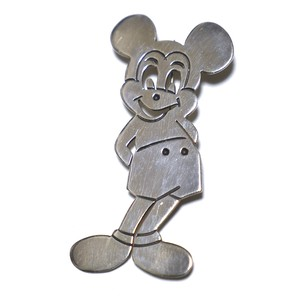 Vintage Sterling Silver Mexican Mickey Mouse Pin Brooch