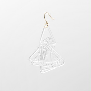 _cthruit シースルーイット triangle (short) earring ピアス 【Clear/Black】