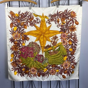 HERMES CARRES90 PASSIFLORES LARGE SIZE SILK 100% SCARF MADE IN FRANCE/エルメスカレ90 パッションフラワー シルク100%大判スカーフ