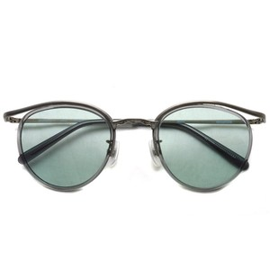 BOSTON CLUB ボストンクラブ / BARTH Sun / 01 Gray - Turquoise Lenses アンティークシルバー-グレー-ターコイズカラーレンズサングラス