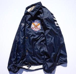 1960's USA製 [EMPIRE] ナイロンコーチジャケット ライニング付き ダークネイビー 表記(XL) オールド