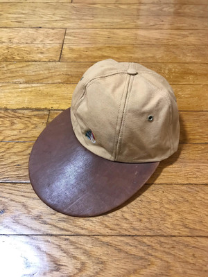 80s Ralph Lauren leather bill cap made in USA