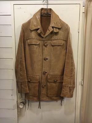 old handclaft leather jacket