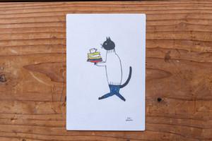 茂苅恵/ポストカード「そーっと そーっと」