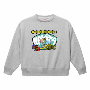 HENOHENO MAPPY HALEIWA  big silhouette sweat GREY