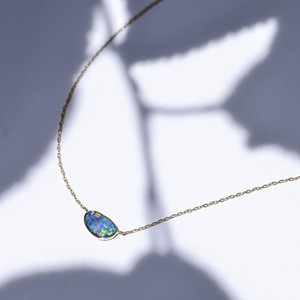 Azure Blue -Necklace-◇K18YG/PG×Opal