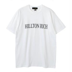 【HILLTON RICH】ヒルトンリッチ BIG LOGO Tシャツ【white】 / HRT-027