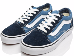 VANS バンズ  KIDS OLD SKOOL NAVY / TRUE WHITE 17cm(実寸18cm)