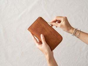 【受注製作】革の財布L Cognac