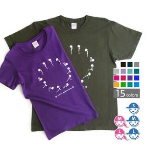 ヨガがいこつTシャツ[太陽礼拝]【選べる15色*6サイズ】