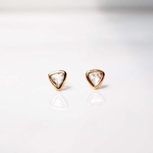 Rose Cut Diamond Pierced Earring /Madrid / Pair(E221-YD )