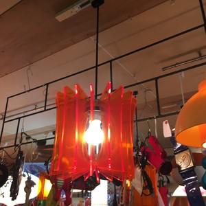 レトロなアクリル羽根のペンダント照明【オレンジ】(0105301100)
