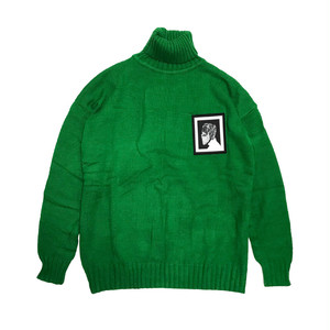 ILL IT - BEARD SKULL TURTLE NECK KNIT (GREEN) -