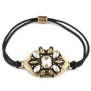 Burnish Metal with Glass stone Bracelet (EB1606)
