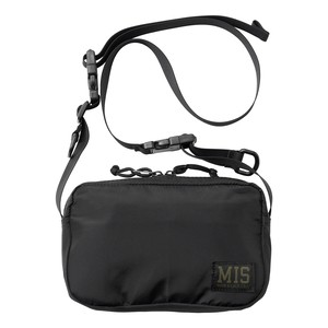 MIS1027P SHOULDER BAG PACKCLOTH_BLACK