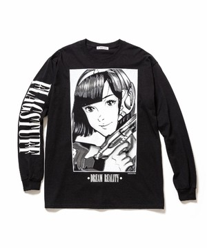 """Dream and reality"" L/S Tee2  BLACK  19SS-FS-46"