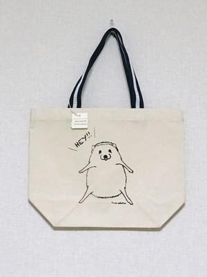 HEY!ハリネズミのトートバッグ(モノクロ手元Sサイズ)