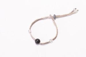 富士山溶岩ブレスレット[Lava Bracelet]〜 ライトグレー × ライトベージュ 〜