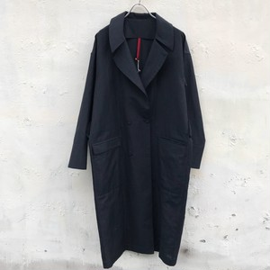 yantor slab linen wool long coat(navy)