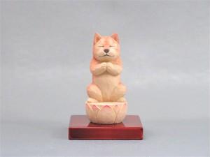 木彫りの犬仏さま 柴犬 犬仏1812