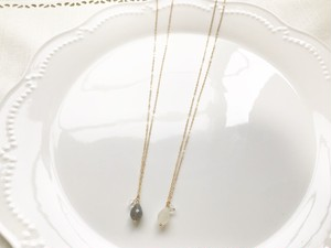 14kgf moon stone necklace