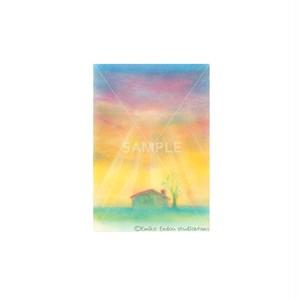 【選べるポストカード3枚セット】No.124 夕焼けの家