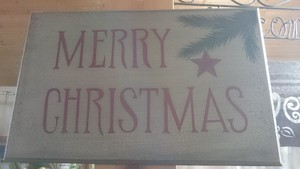 メリークリスマス ホワイトサインボード